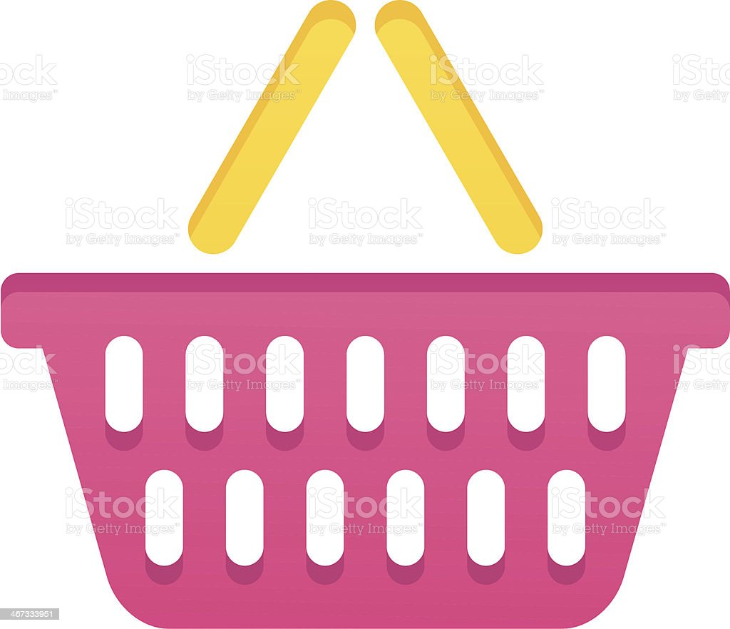 Shopping basket royalty-free stock vector art