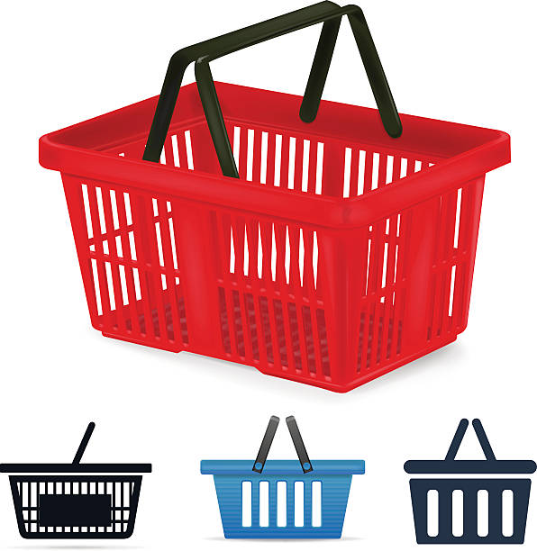 Vector Clipart Shopping Basket : Ping basket clip art vector images illustrations