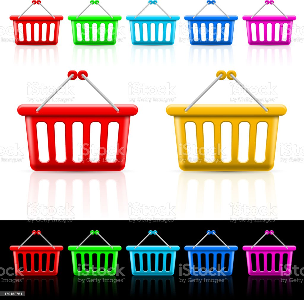 Shopping baskets royalty-free stock vector art