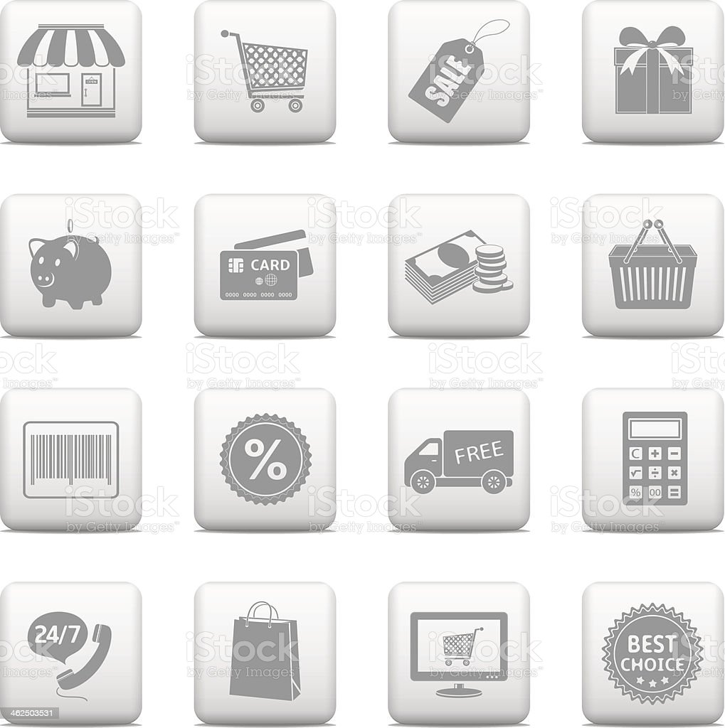 Shopping buttons for website royalty-free stock vector art