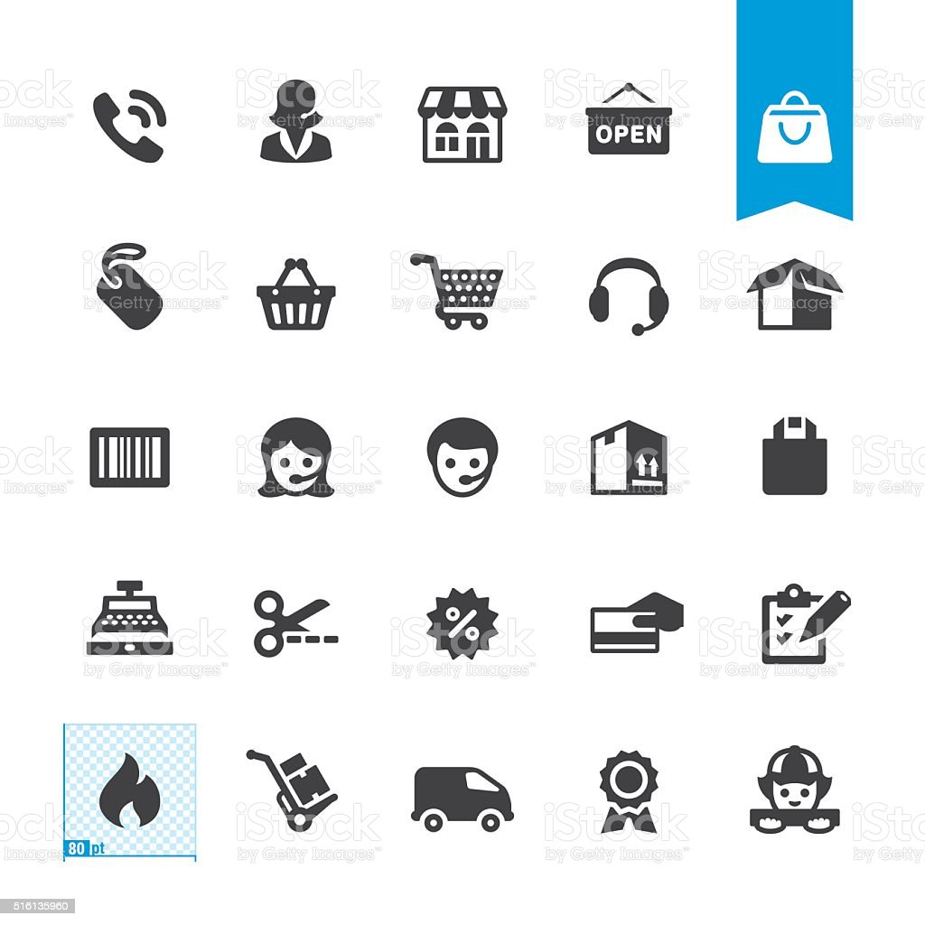 Shopping & Buying vector sign and icon vector art illustration