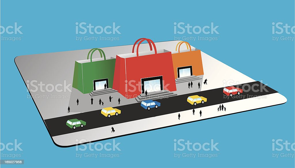 shopping card vector art illustration