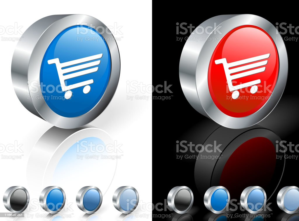 Shopping cart 3D royalty free vector art royalty-free stock vector art