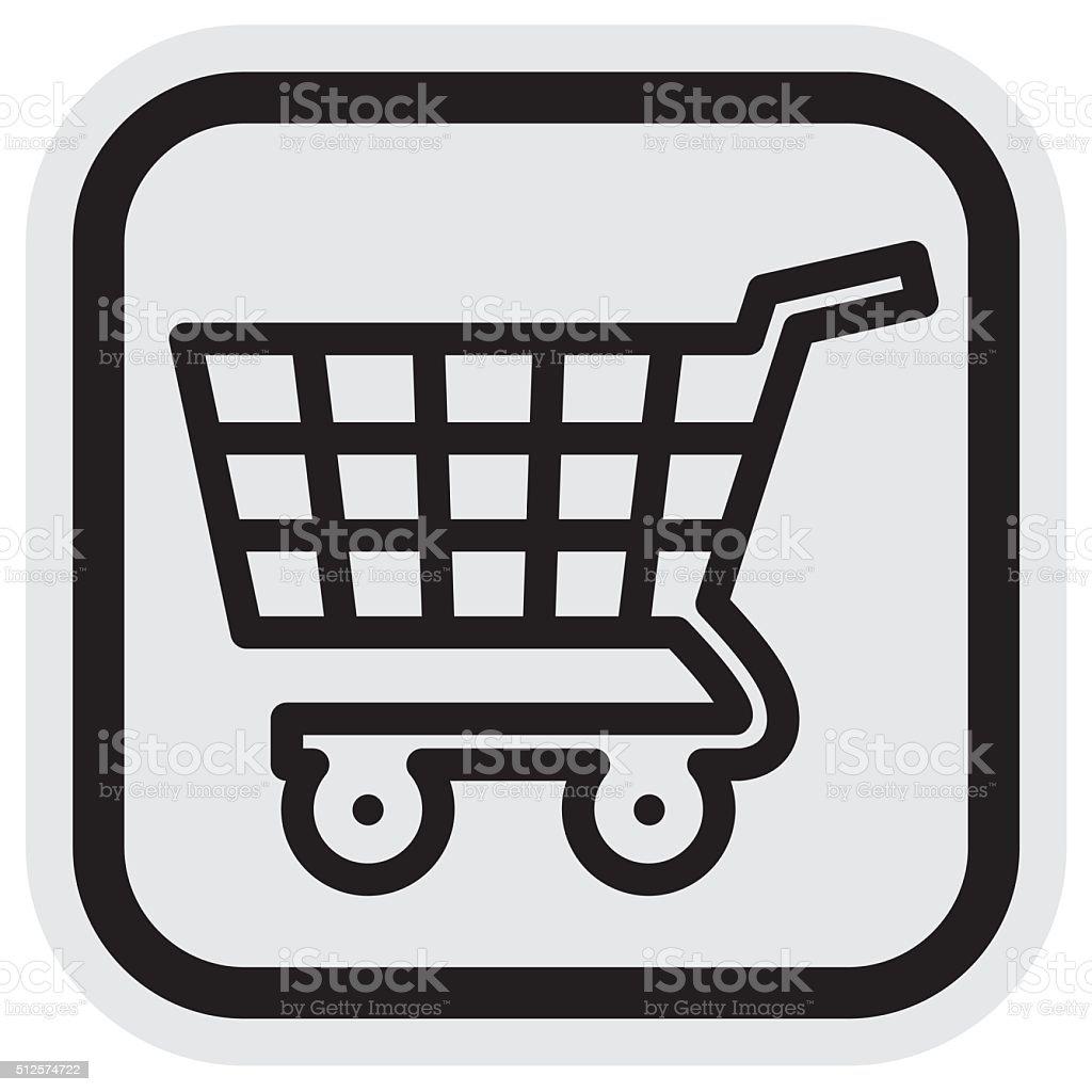 shopping cart, frame vector art illustration