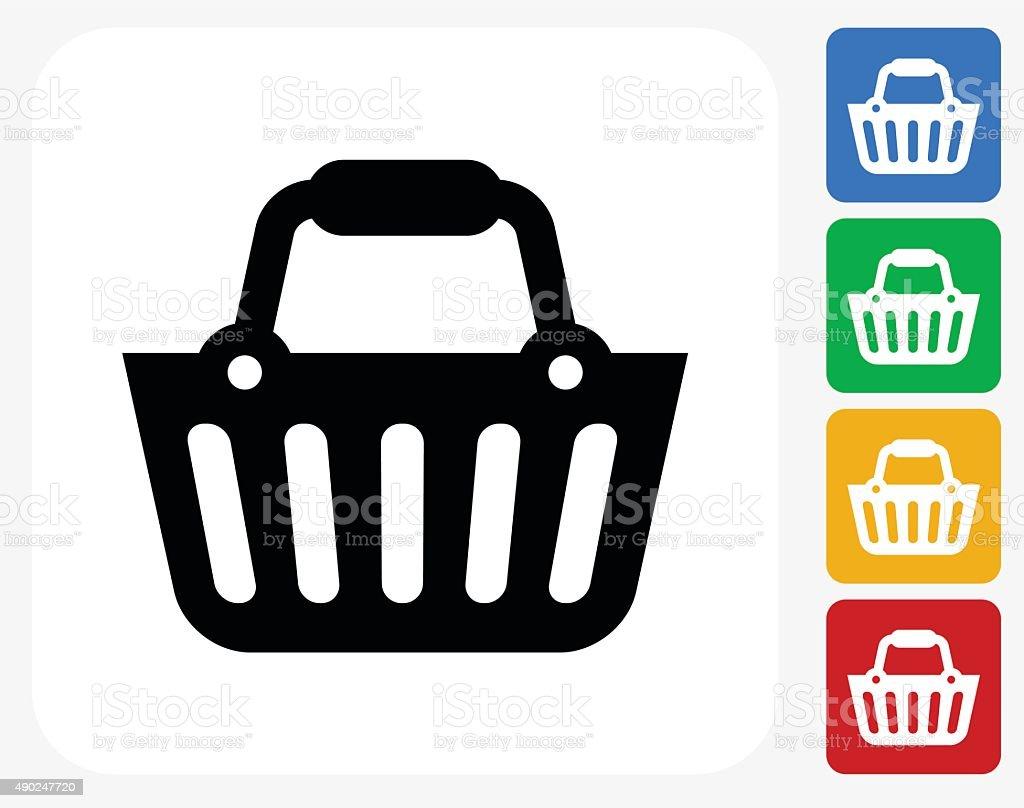 Shopping Cart Icon Flat Graphic Design vector art illustration