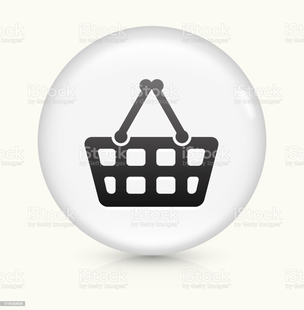 Shopping Cart icon on white round vector button vector art illustration