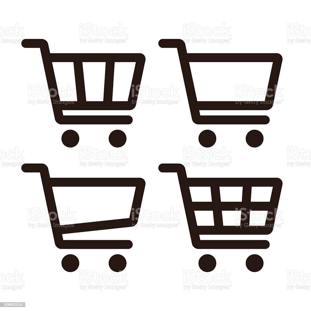 Shopping Cart Icon Set vector art illustration