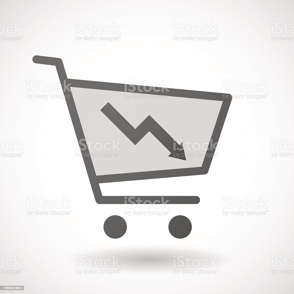 Shopping Cart Icon With A Graph Stock Vector Art 588997864 Istock Diagram Chart Data Arrow Symbol