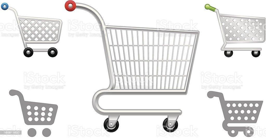 Shopping Cart object icons vector art illustration