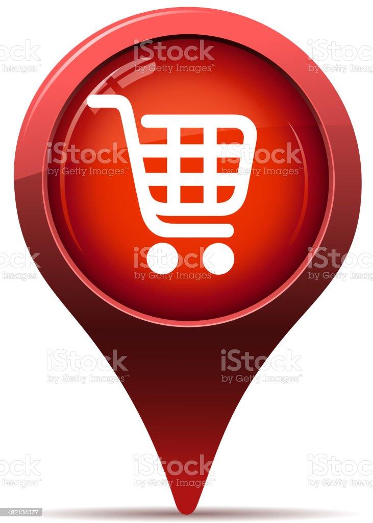 shopping cart pointer royalty-free stock vector art