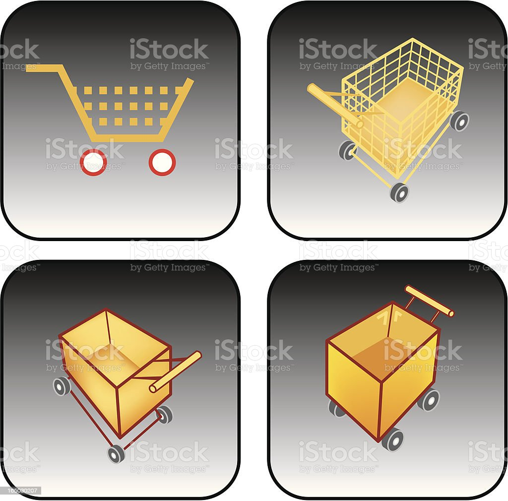 shopping cart/ push cart royalty-free stock vector art