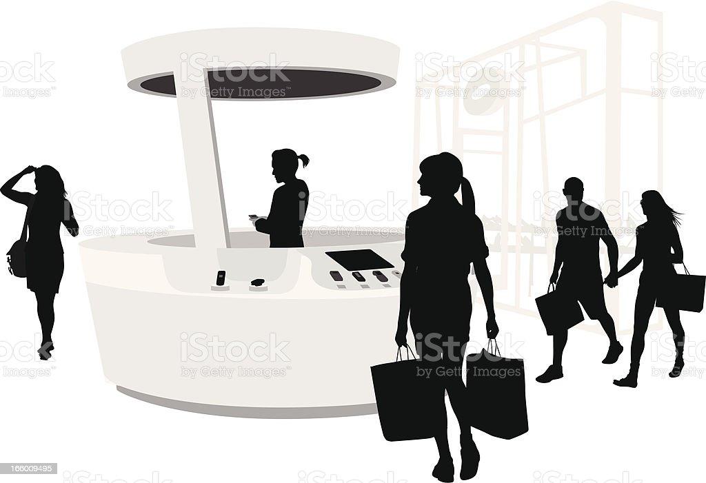 Shopping Cellphones royalty-free stock vector art