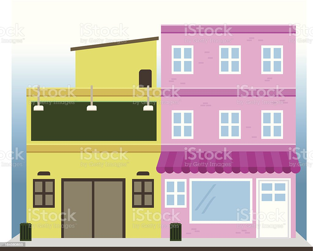 shopping complex royalty-free stock vector art