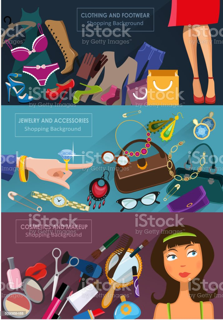 Shopping concept vector art illustration