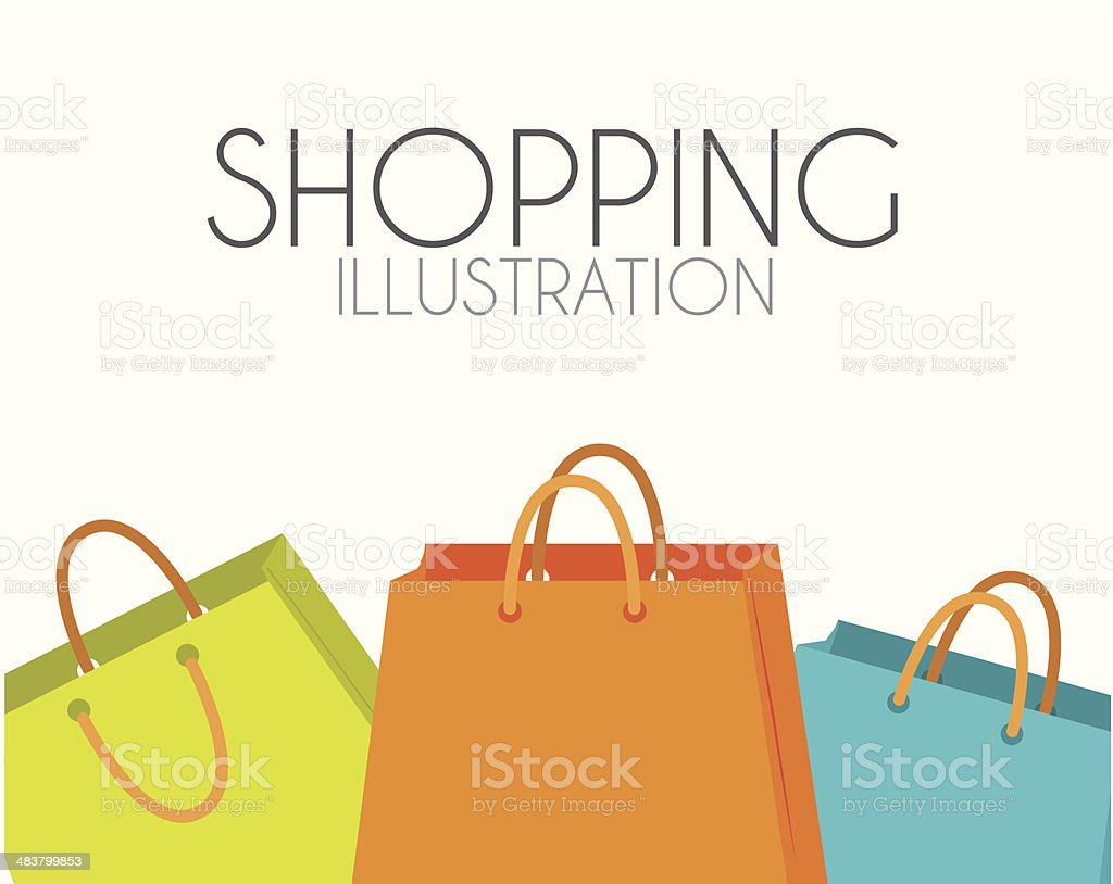 Shopping design vector art illustration