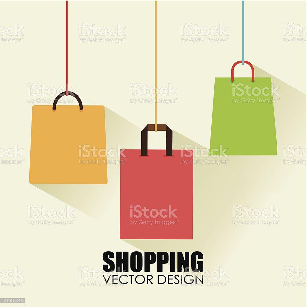 Shopping design vector art illustration