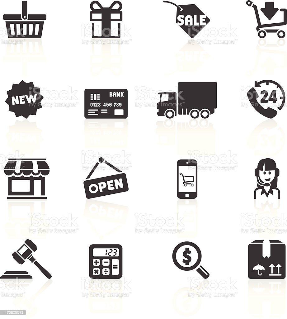 Shopping & E-commerce Icons 1 vector art illustration