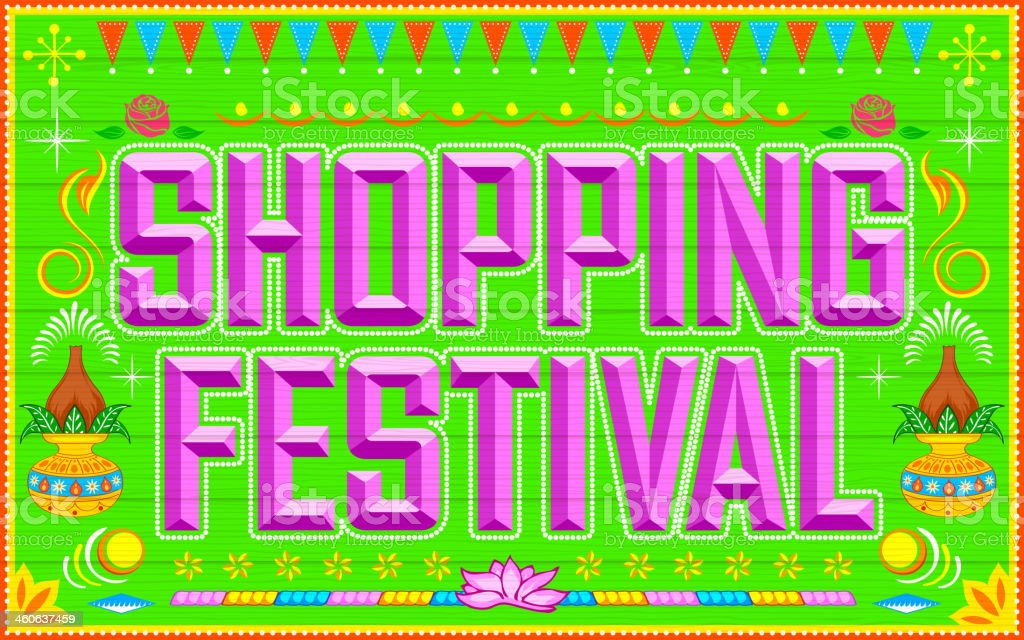 Shopping Festival vector art illustration