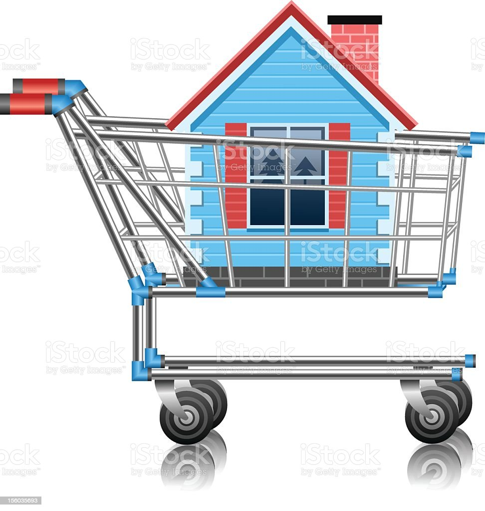 Shopping for real estate royalty-free stock vector art
