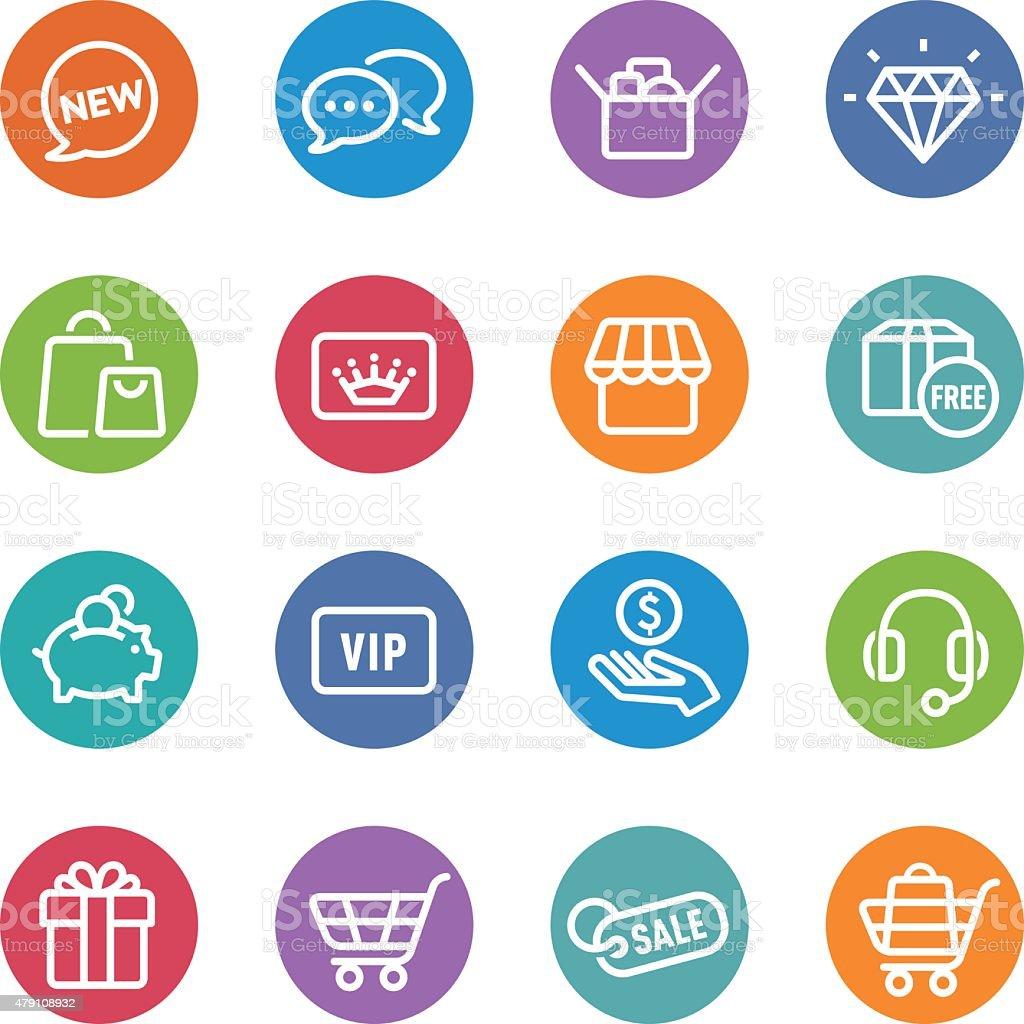Shopping Icon - Circle Line Series vector art illustration