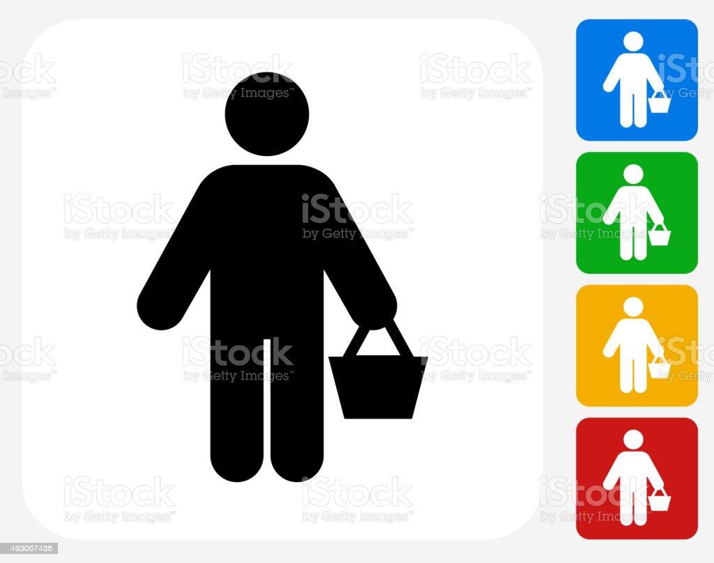 Shopping Icon Flat Graphic Design vector art illustration