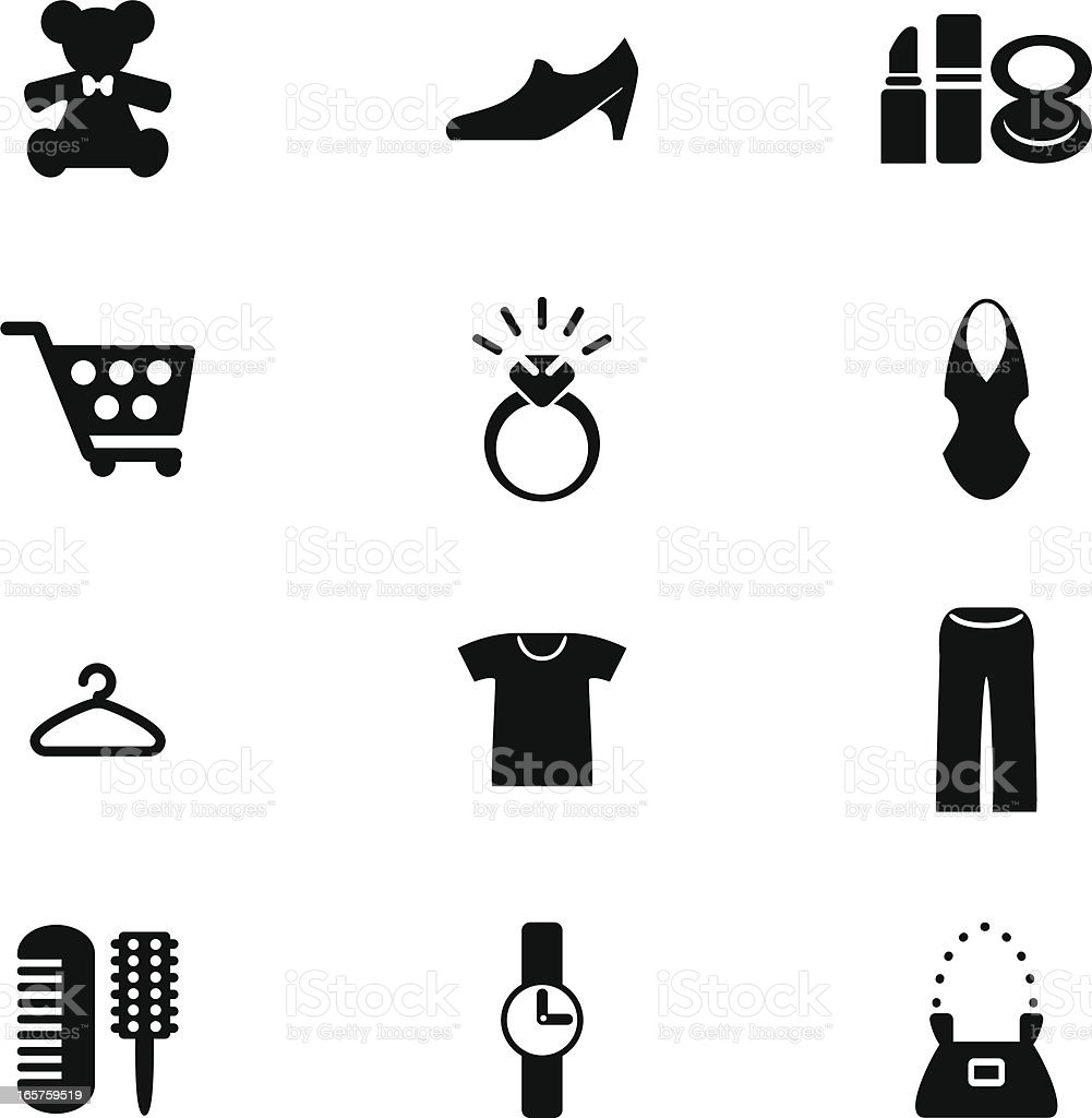 Shopping Icon for Woman vector art illustration