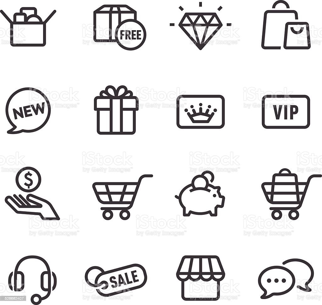 Shopping Icon - Line Series vector art illustration