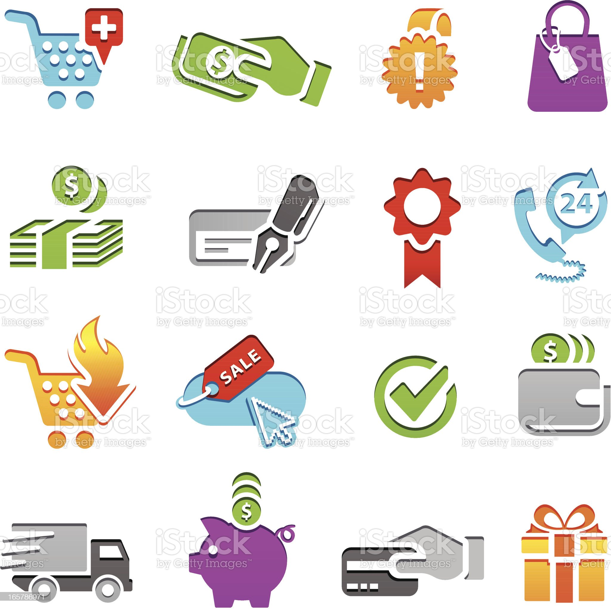 Shopping Icon Series royalty-free stock vector art