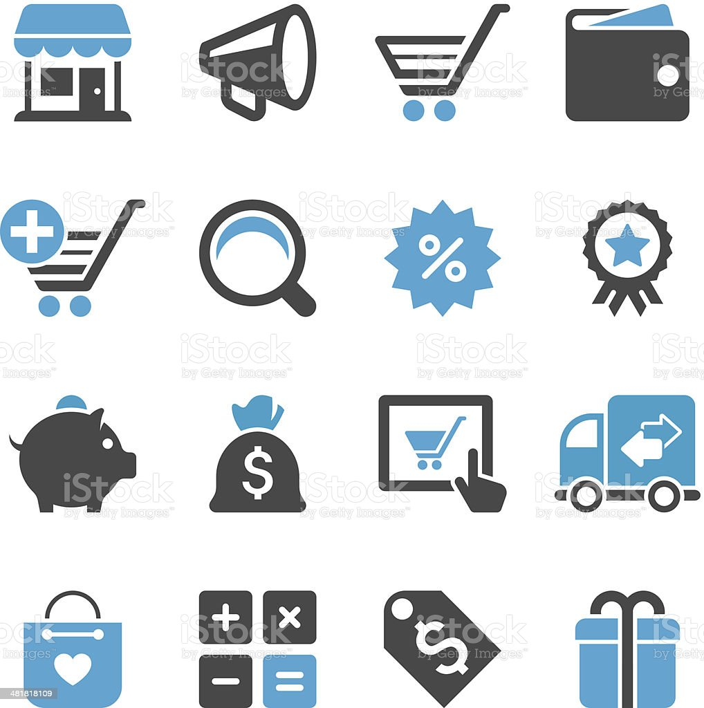 Shopping Icon Set | Concise Series royalty-free stock vector art