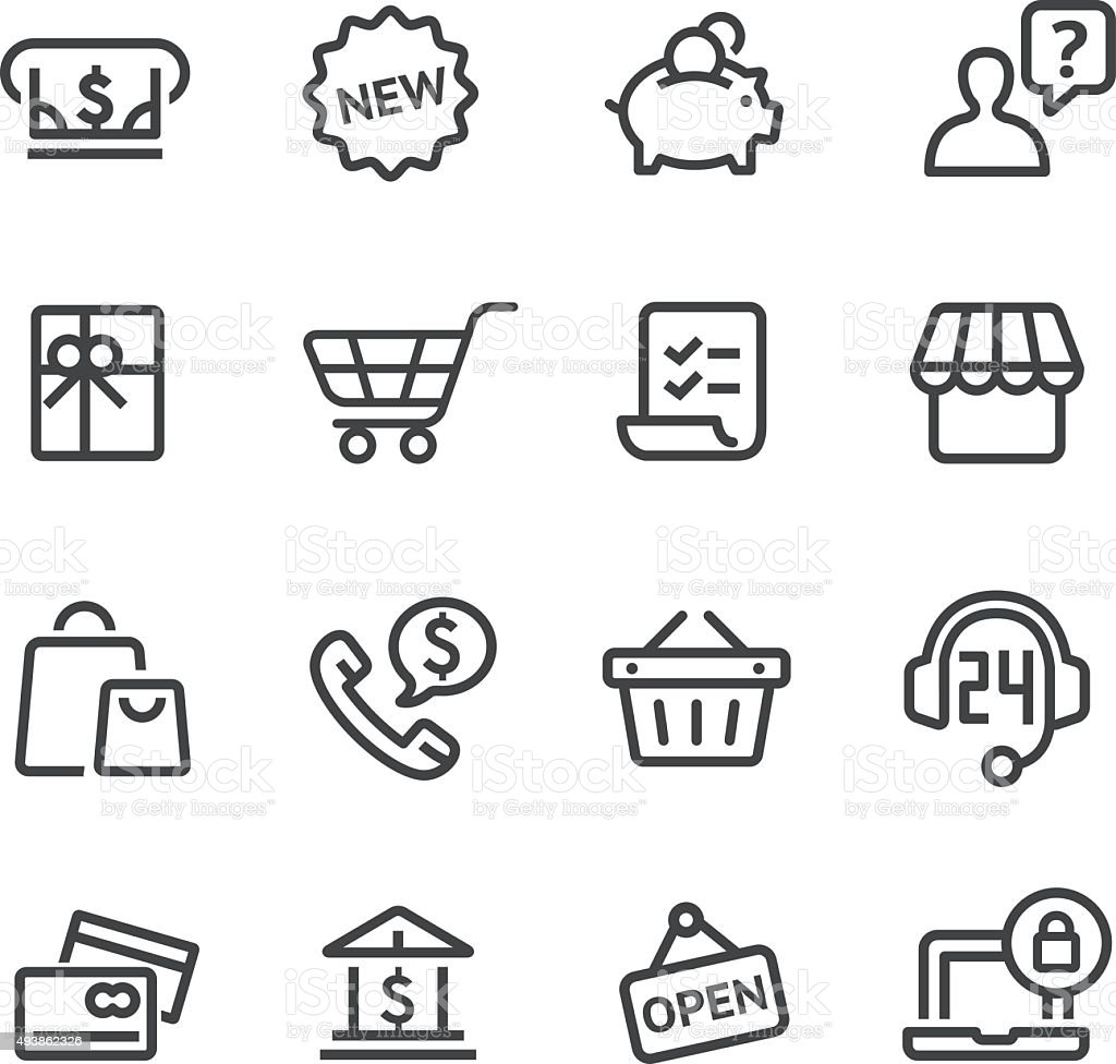 Shopping Icon Set - Line Series vector art illustration