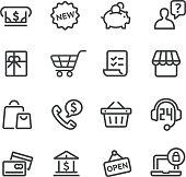 Shopping Icon Set - Line Series