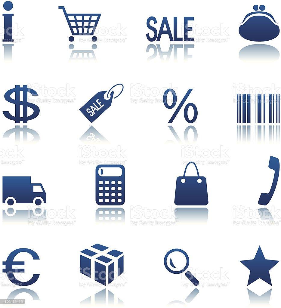Shopping icône ensemble stock vecteur libres de droits libre de droits