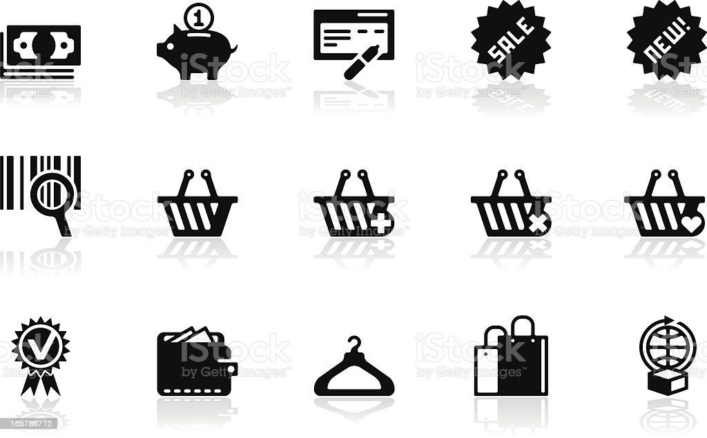 Shopping icon set royalty-free stock vector art