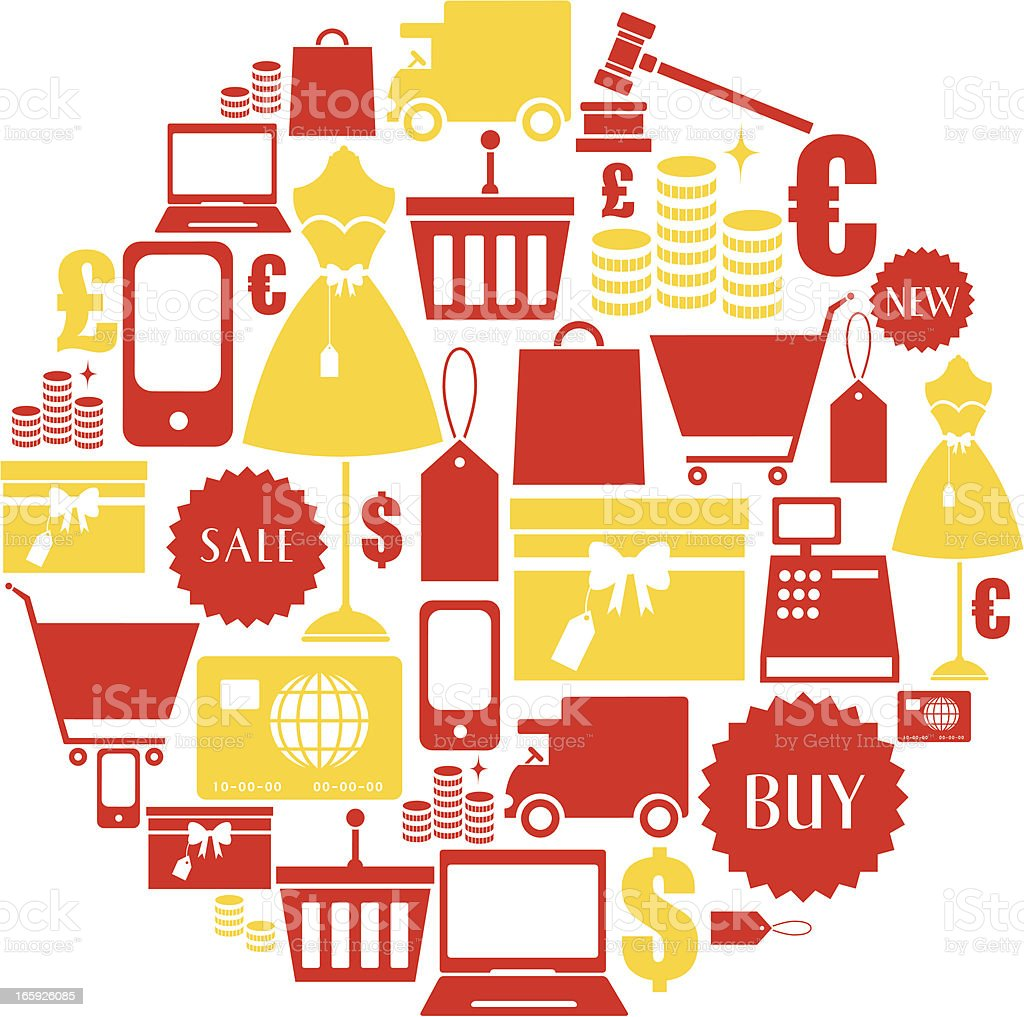 Shopping Icon Set royalty-free stock vector art