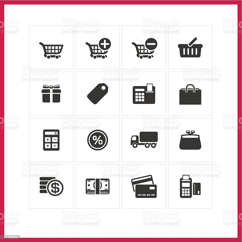 Shopping icon set. royalty-free stock vector art
