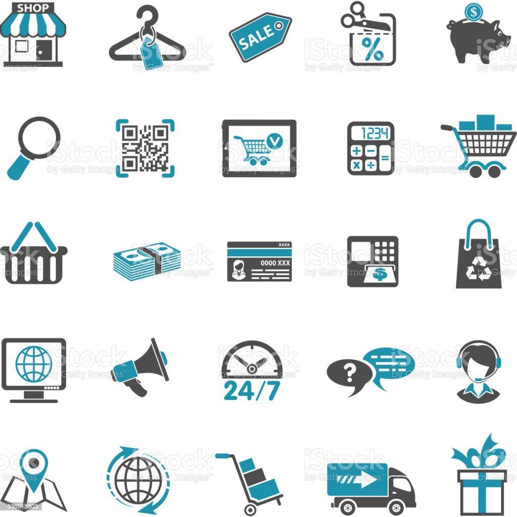 Shopping Icon Set vector art illustration