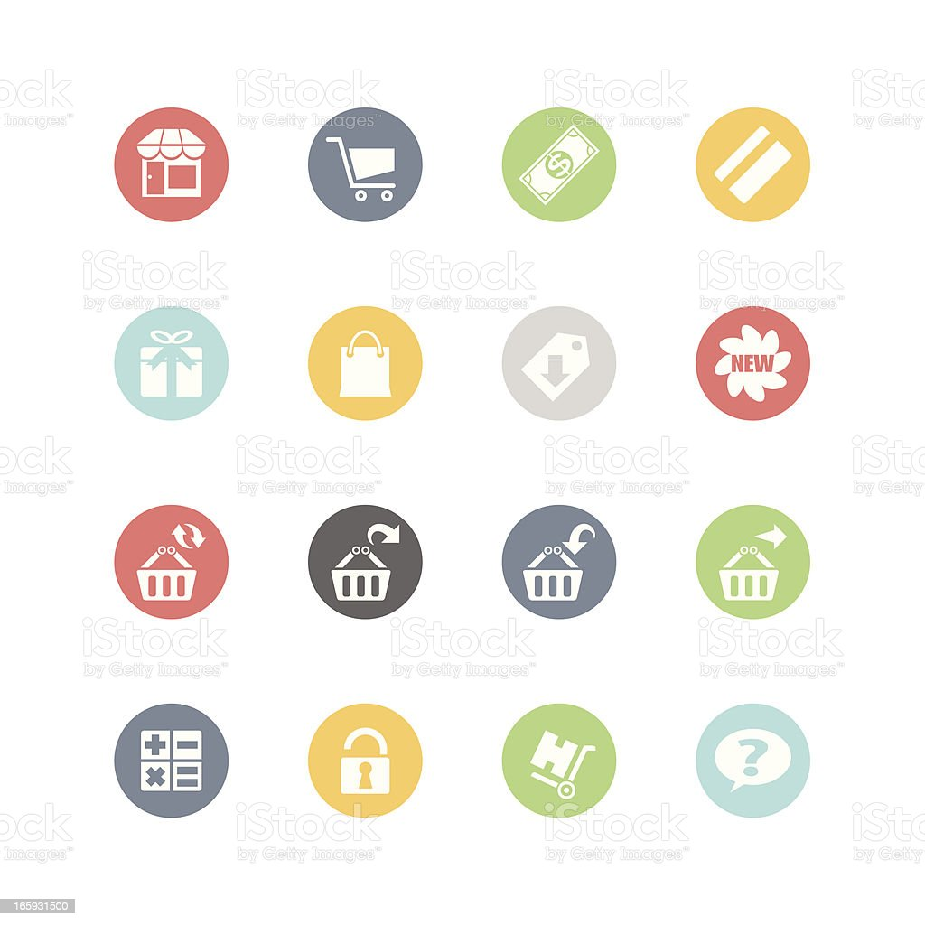 Shopping Icons 2 : Minimal Style vector art illustration