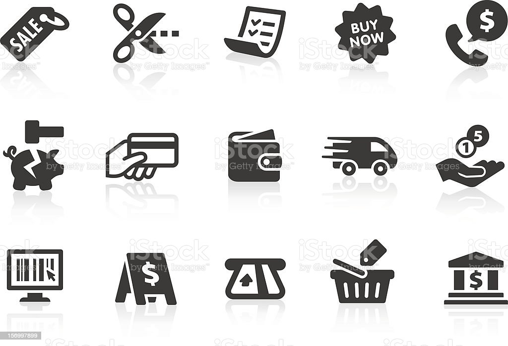 Shopping icons 2 vector art illustration