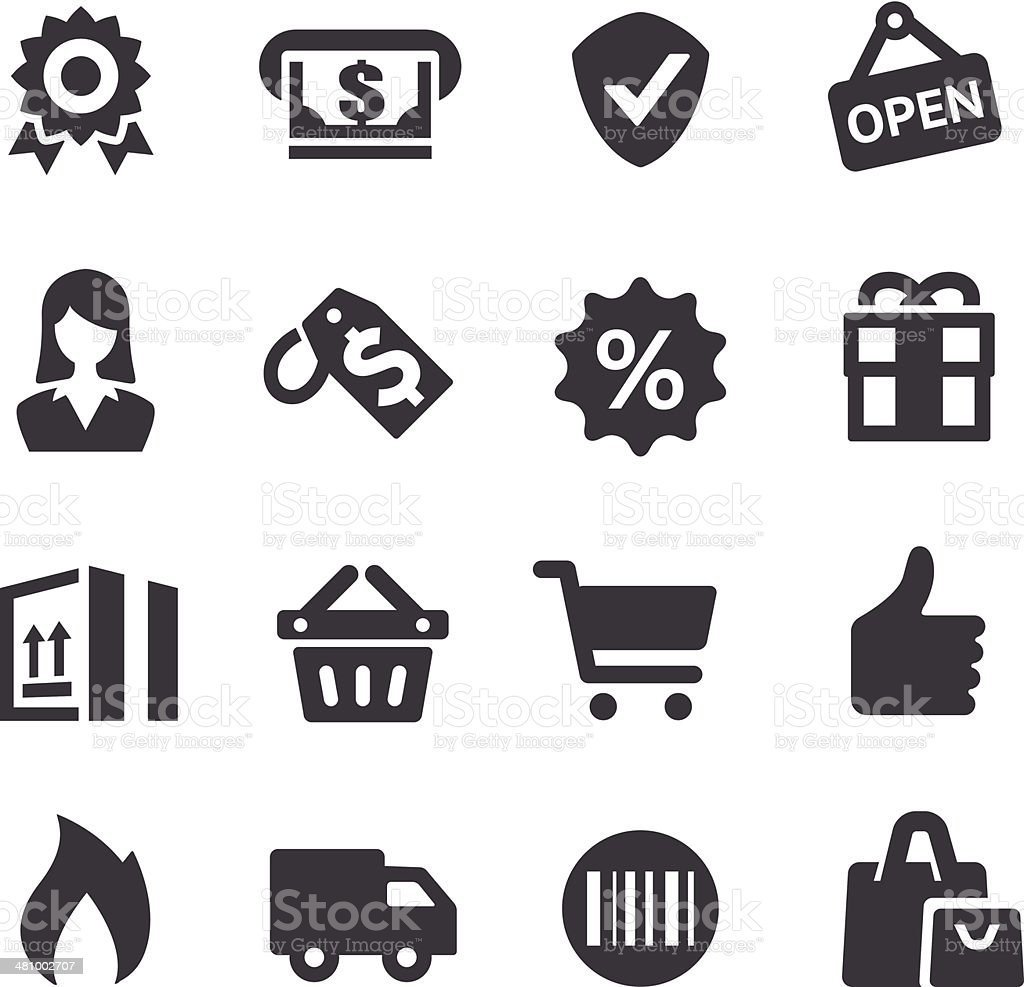 Shopping Icons - Acme Series vector art illustration