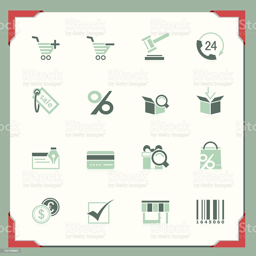 Shopping icons | In a frame series royalty-free stock vector art