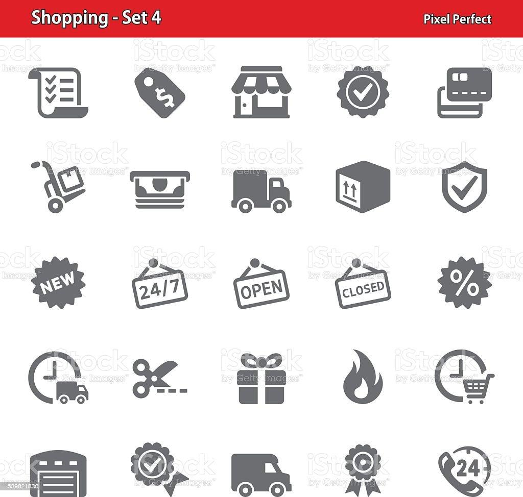 Shopping Icons - Set 4 vector art illustration