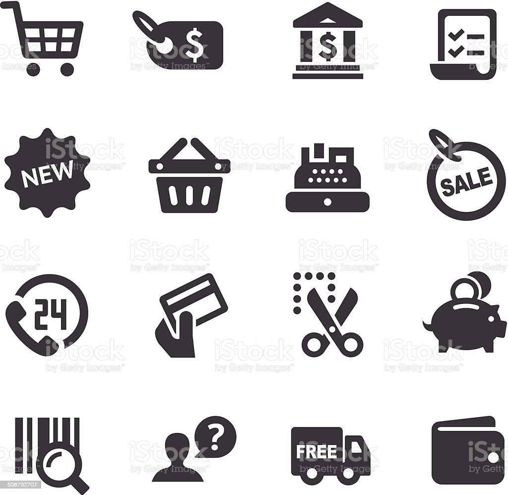 Shopping Icons set - Acme Series vector art illustration