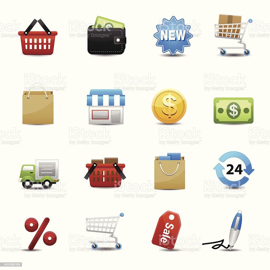 Shopping icons set vector royalty-free stock vector art