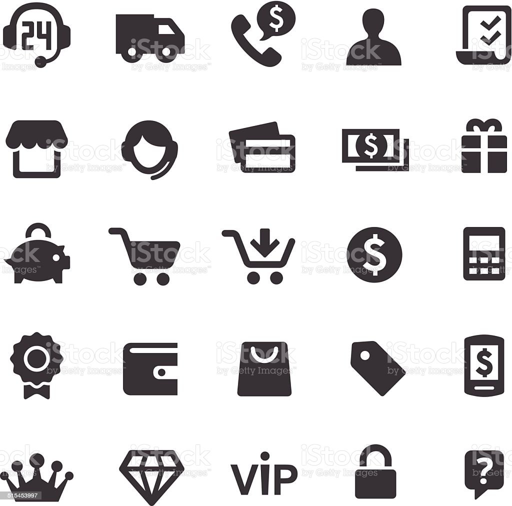 Shopping Icons - Smart Series vector art illustration
