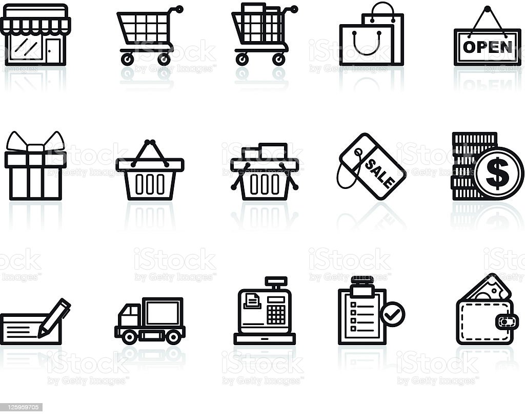 shopping icons royalty-free stock vector art