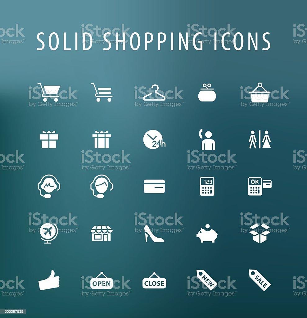 Shopping icons. vector art illustration