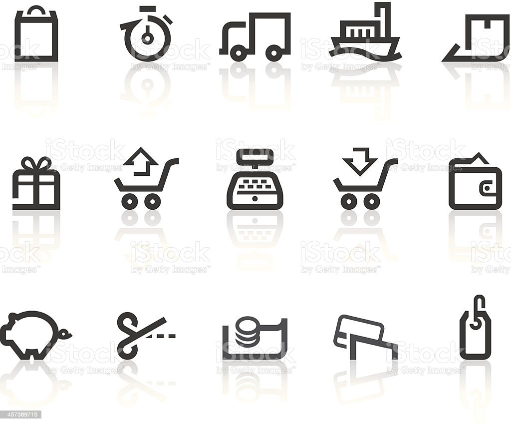 Shopping II Icons | Simple Black Series royalty-free stock vector art