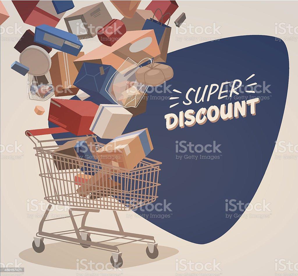 Shopping illustrated background vector art illustration