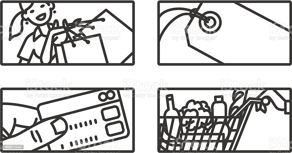 Shopping illustrations. vector art illustration