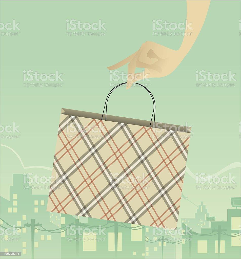 Shopping in the City vector art illustration